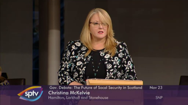 Christina McKelvie Social Security