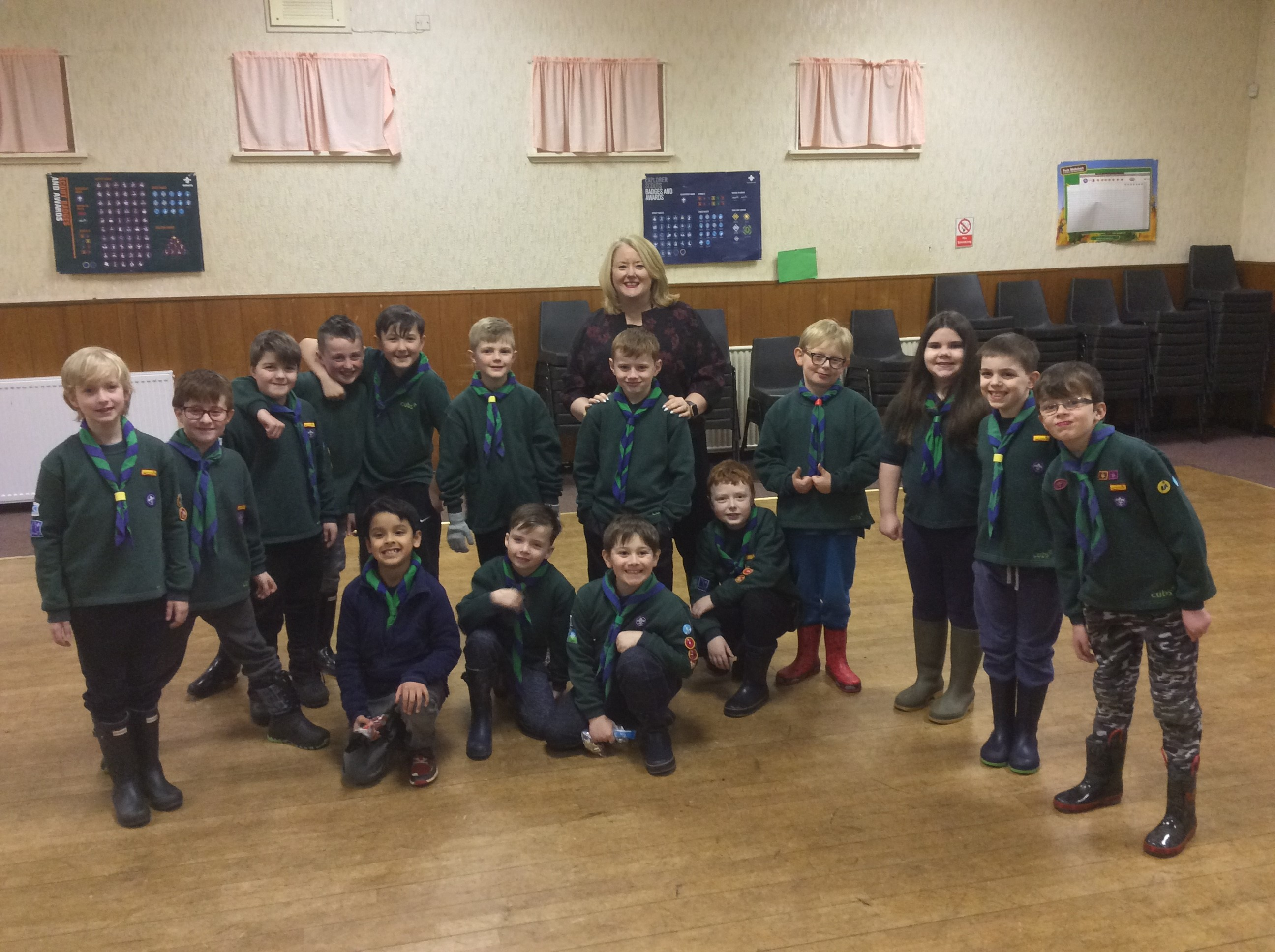 Christina and 112th Lanarkshire Cubs