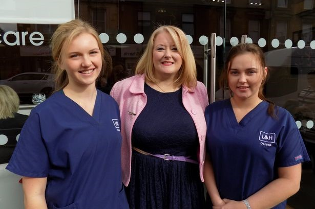 Christina and Dental Apprentices