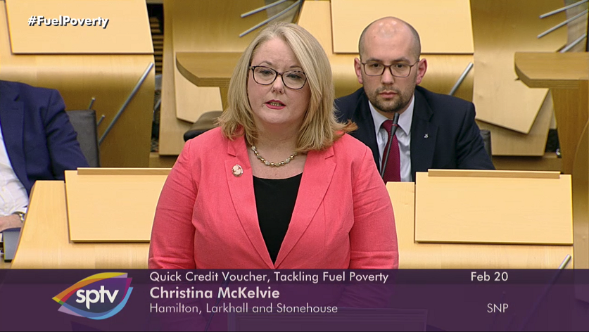 Members Business Debate Chrisitna McKelvie Fuel Poverty