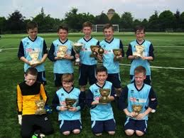 young footballers from St Mary's primary